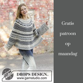 Gratis patroon - Haakpatroon Poncho
