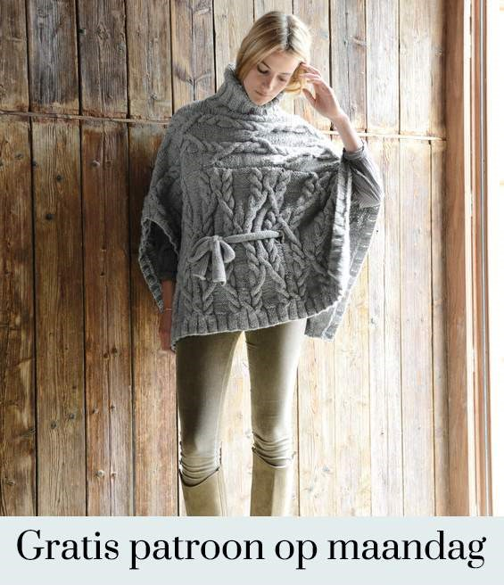 Gratis patroon - Breipatroon Poncho