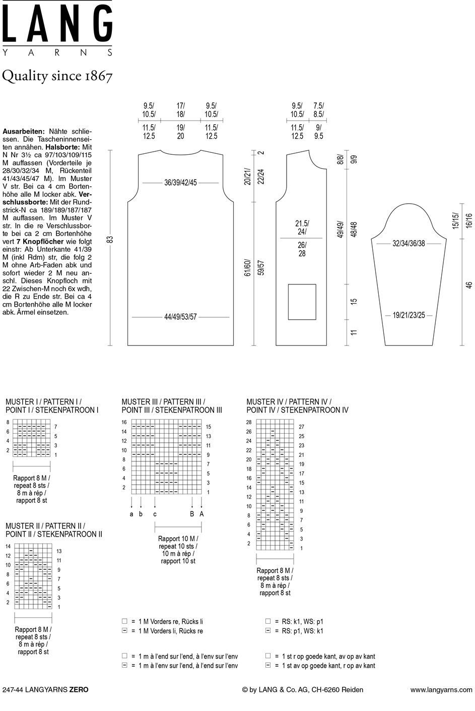 Gratis patroon - Lang vest