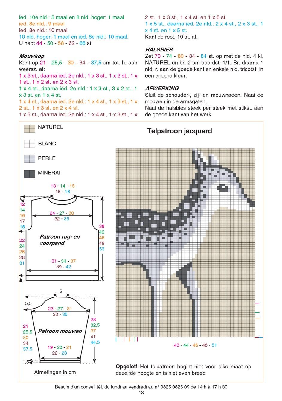 Gratis patroon - Breipatroon kindertrui met hert